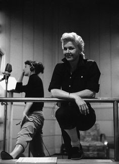 Actresses Allyn Ann McLerie & Doris Day during rehearsals for the film Calamity Jane.