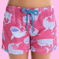 - PRODUCT - ANIMAL - PARTNER A pair of our beautifully-designed women's beach shorts, inspired by the threatened Whale shark. Made from 100% polyamide - a soft, durable and quick-drying fabric. To ens