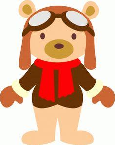 View Design: aviator teddy, silhouette, ursinho aviador, pelúcia