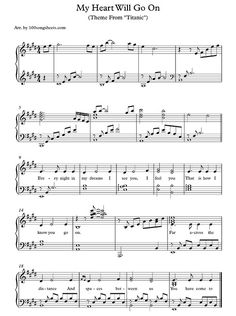 My Heart Will Go On - Celine Dion free sheet music
