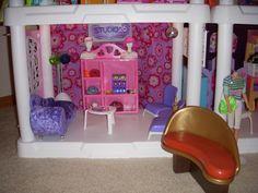Barbie Salon Waiting Area Plastic Shelving Units, Barbie Store, Salon Waiting Area, Restoration, Plastic Shelves