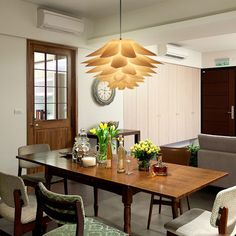Modern 53cm Lotus Shape Chandelier Pendant Ceiling Lamp Shade Hanging Light Lampshade DIY Home Living Room Bedroom Decoration-in Pendant Lights from Lights & Lighting on Aliexpress.com | Alibaba Group