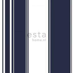 136417 HD vliesbehang strepen marine blauw