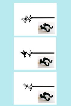 Perfect curtain rods for a kid's room. Decorate with butterfly, dragonfly or hummingbird curtain rods.