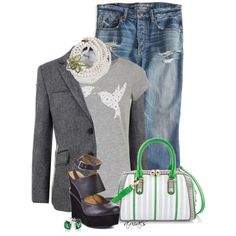 Birds & Flowers, created by fed3girl on Polyvore