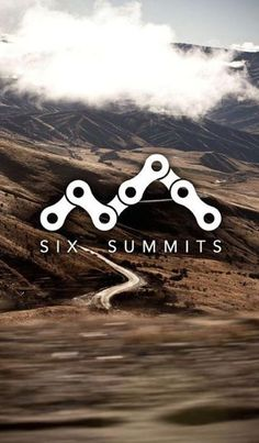 extremely smart logo (mountain made from bike chains) ml  Clever logo design for Six Summits