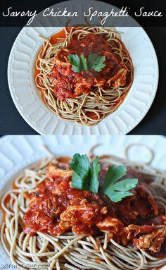 Savory Chicken Spaghetti Sauce via Sophistishe