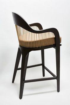 High stool with armrests LANKA | High stool by Reda Amalou