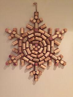 Upcycled Wine Cork Snow Flake