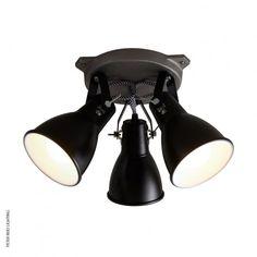 Stirrup triple ceiling light black by original btc