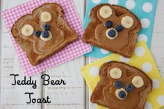 Que beleza um café da manhã com cara de ursinho! - Teddy Bear Toast