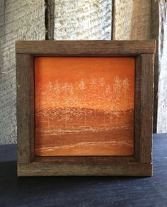 Arbor Art, Engraved Wood, Fall Home Decor, Rustic, Primitive, Minimalist, Autumn Landscape, Cottage, Cabin Decor, Brown, Yellow, Orange