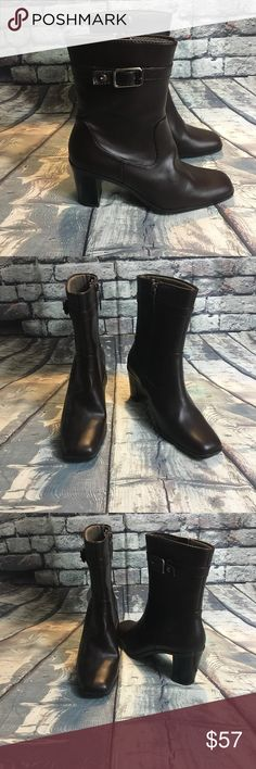 Tommy Hilfiger Heeled Boots Size 7.5M Color Brown Tommy Hilfiger Heeled Boots Size 7.5M Color Brown.   New with tags. Tommy Hilfiger Shoes Ankle Boots & Booties