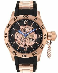 Rougois Rose Gold Automatic Skeleton Naval Officers Diver Watch Rougois. $260.00. Case Material: Stainless Steel. Case Thickness: 12mm. Hands: Blue with Luminescent Paint. Water Resistant: 10atm