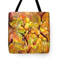 Autumn Grapes Symphony Tote Bag for Sale by Sabina Von Arx Yellow Bathroom Decor, Thing 1, Bag Sale, Autumn, Tote Bag, Prints, Bags, Handbags, Fall Season