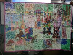 A collaborative pointillism project. What a great idea!