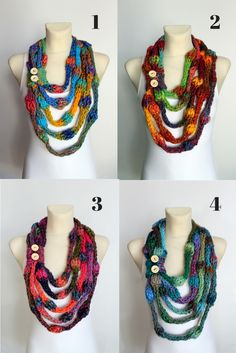 KNit Neckalce Scarves by Locotrends available on #etsy now www.locotrends.etsy.com #scarf #scarves #knitting #necklace #handmade #valentinesday #valentines