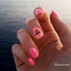 HELLO SUMMER ! ☀☀☀ Un immense merci à Nina pour cette lumineuse manucure !  D'autre photos de Nina ici : Couleurs : Coachella & Rosie #vernisrose #fluo #vernispermanent #semipermanent #été #manucure #ongle #manicure #nailaddict #nail #couleur Nails Rose, 5 Ml, Hello Summer, Pedicure, Immense, Bubbles, Make Up, Nail Art, Coachella
