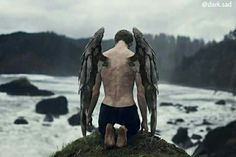 Uploaded by Find images and videos about boy, dark and fallen angel on We Heart It - the app to get lost in what you love. Fallen Angel Costume Ideas, Male Fallen Angel, Fallen Angels, A Court Of Wings And Ruin, Ange Demon, Angel Aesthetic, Male Photography, Angels And Demons, Angel Art