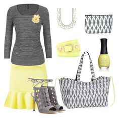 Yello Beautiful by triciadewar on Polyvore featuring maurices, Madam Rage, Gianvito Rossi, Balenciaga, Tiffany & Co. and ORLY