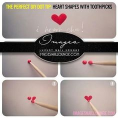 Every wanted to know the easiest way to draw hearts on nails?
