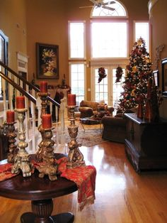 tuscan christmas decorating ideas | & GOLD TUSCAN CHRISTMAS! - Living Room Designs - Decorating Ideas ...