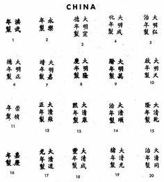 Pottery & Porcelain Marks - China - Pg. 1 of 1