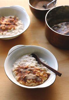 Almond Milk Porridge with Chai Spiced Sugar