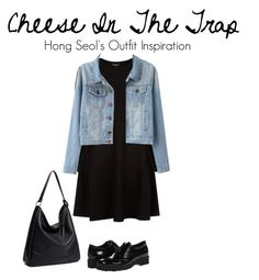 """""""Cheese In The Trap (Korean Drama) Outfit Inspiration"""" by nomastu-dinar on Polyvore featuring DKNY, La Canadienne, women's clothing, women, female, woman, misses and juniors"""