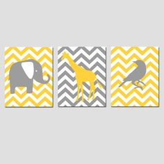 Modern Chevron Elephant...might be changing my nursery colors!!