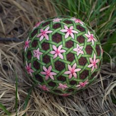 Flowers in the Deep Forest temari ball. $20.00, via Etsy.