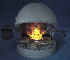 This Calcifer fireplace ($40).