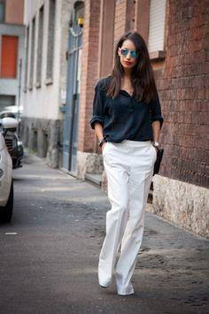 slouchy pants | Milan Fashion Week fall 2013