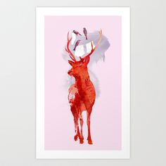 Useless Deer Art Print by Robert Farkas - $18.90 http://society6.com/product/useless-deer_print?curator=suss