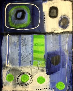 Anne Theriault abstract painting- the thing inside the thing