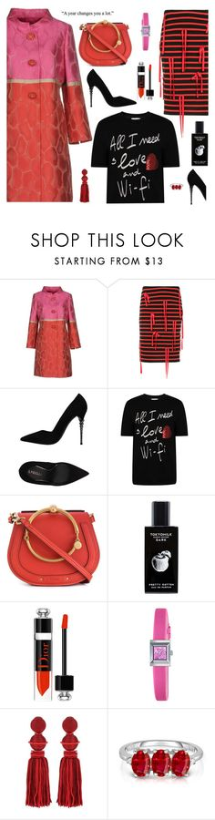 """""""Bar modeling"""" by molly2222 ❤ liked on Polyvore featuring Clips, Goen.J, Le Silla, Dolce&Gabbana, Chloé, TokyoMilk, Christian Dior, Gucci, Oscar de la Renta and WALL"""