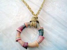 paper bead cone pendant.