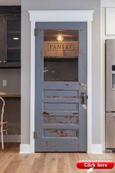 Home Design Inspiration Kitchen Farmhouse Decor 42 Super Ideas Rustic Pantry Door, Kitchen Pantry Doors, Glass Pantry Door, Kitchen Pantries, Glass Kitchen, Kitchen Cabinets, Pantry Room, Floors Kitchen, Glass Cabinets