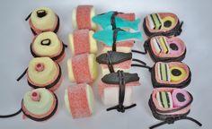 Sushi en nog meer voor het maken van verschillende snoep traktaties. Kijk voor meer snoep en traktatie ideeën op onze website en onze blog.