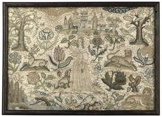 Needlework picture circa 1641