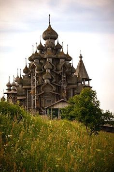 Wooden Cathedral on Kizhi Island in Russia