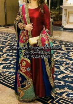 Shop now Frock Suit Long online from the latest collection. This party wear frock suit gives an ethnic look to a women. Pakistani Fashion Party Wear, Pakistani Dresses Casual, Pakistani Wedding Outfits, Pakistani Dress Design, Bridal Outfits, Indian Fashion, Korean Fashion, Women's Fashion, Fashion Tips
