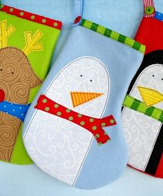 Stocking Sewing Pattern for Penguin Snowman by preciouspatterns, $3.99