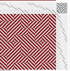 draft image: Figure 405, A Handbook of Weaves by G. H. Oelsner, 18S, 18T