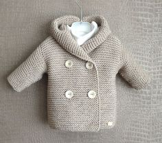 Give your baby a sweater with these simple knitting patterns for baby cardigans – ♥ Baby Cardigan Duffle Gr. months ♥ – one