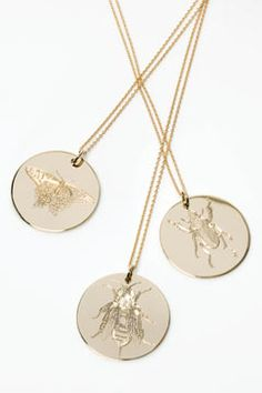 Philippa Holland pendants - nature and jewellery combined!