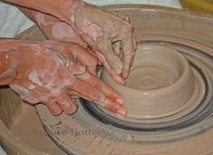 Make a piece of pottery - pottery wheel camp program Stamford CT
