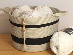 HOW TO - MAKE LARGE COTTON ROPE STORAGE BASKET - YouTube