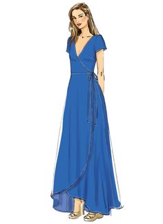 Vogue Wrap Dress – The Foldline – Schnittmuster Dress Sewing Patterns, Vintage Sewing Patterns, Apron Patterns, Pattern Sewing, Sewing Dresses For Women, Dress Outfits, Fashion Dresses, Fashion Fashion, Diy Kleidung