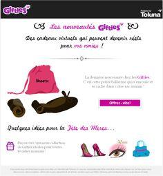 Shoette fait parti des Gifties de Toluna : la cadeau virtuel qui peut devenir réel http://fr.toluna.com/opinions/1468607/Gifties:_Votre_Giftie_Shoette_est_devenu_r%C3%A9el!